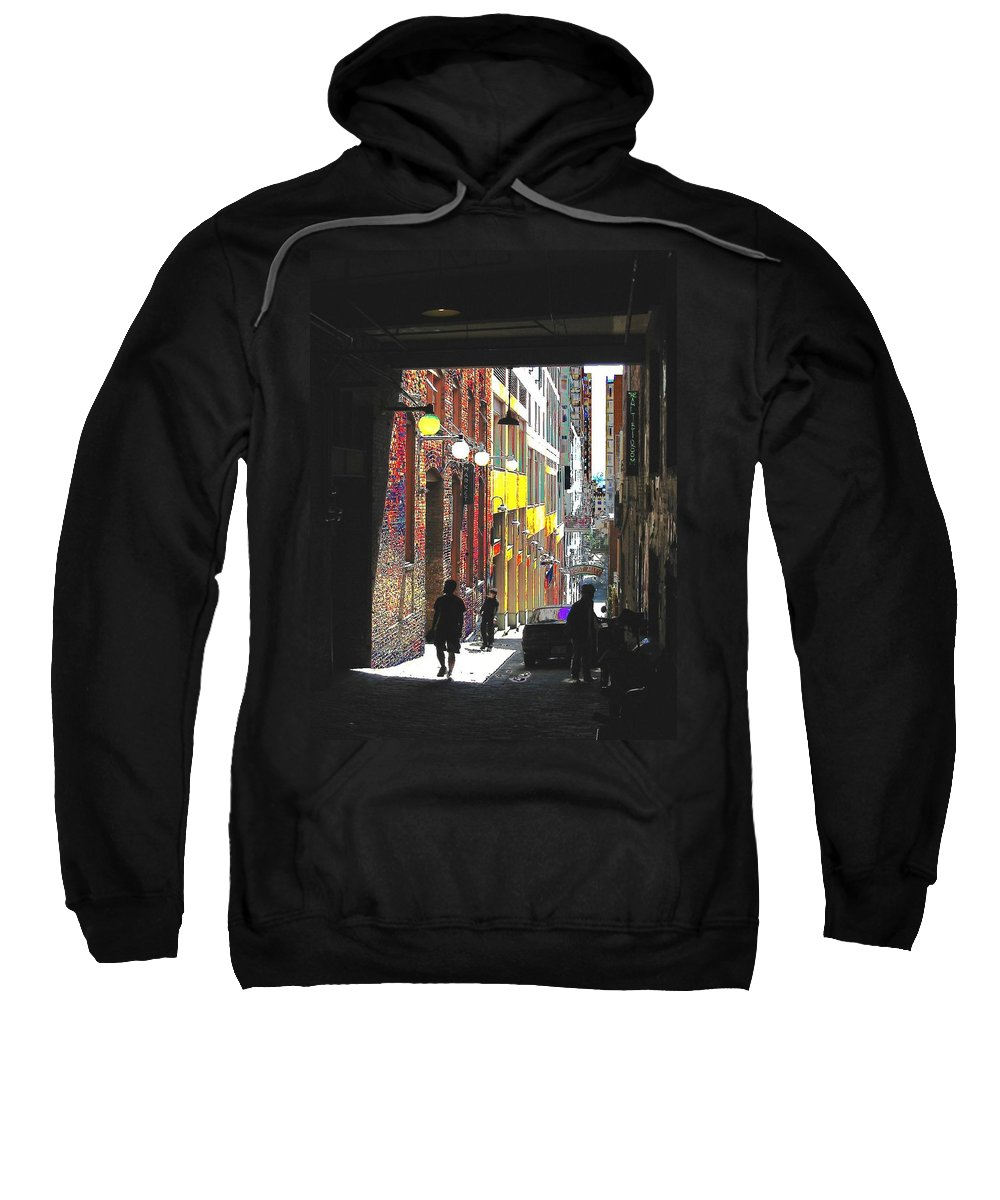 Seattle Sweatshirt featuring the digital art Post Alley by Tim Allen