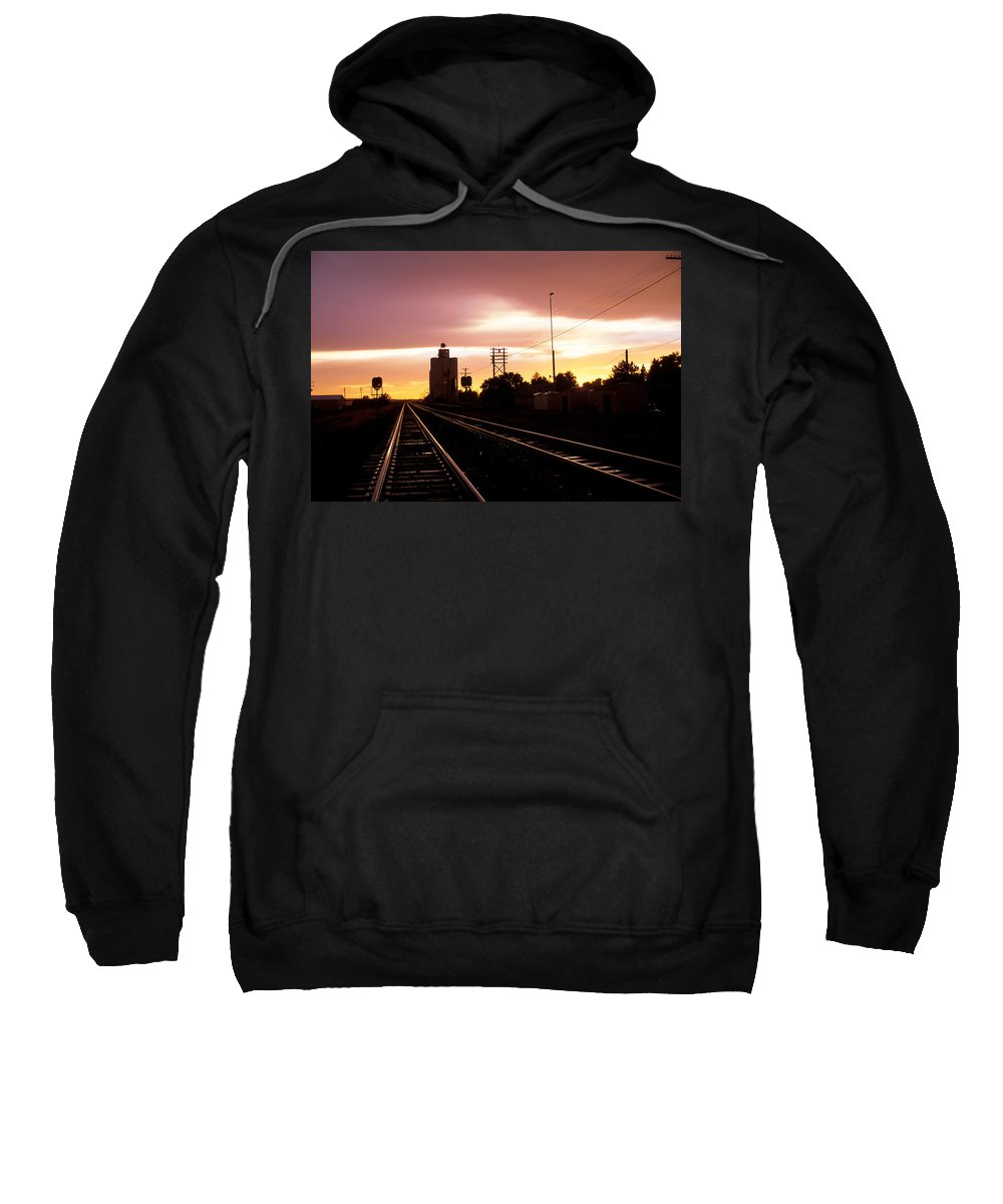 Potter Sweatshirt featuring the photograph Potter Tracks by Jerry McElroy