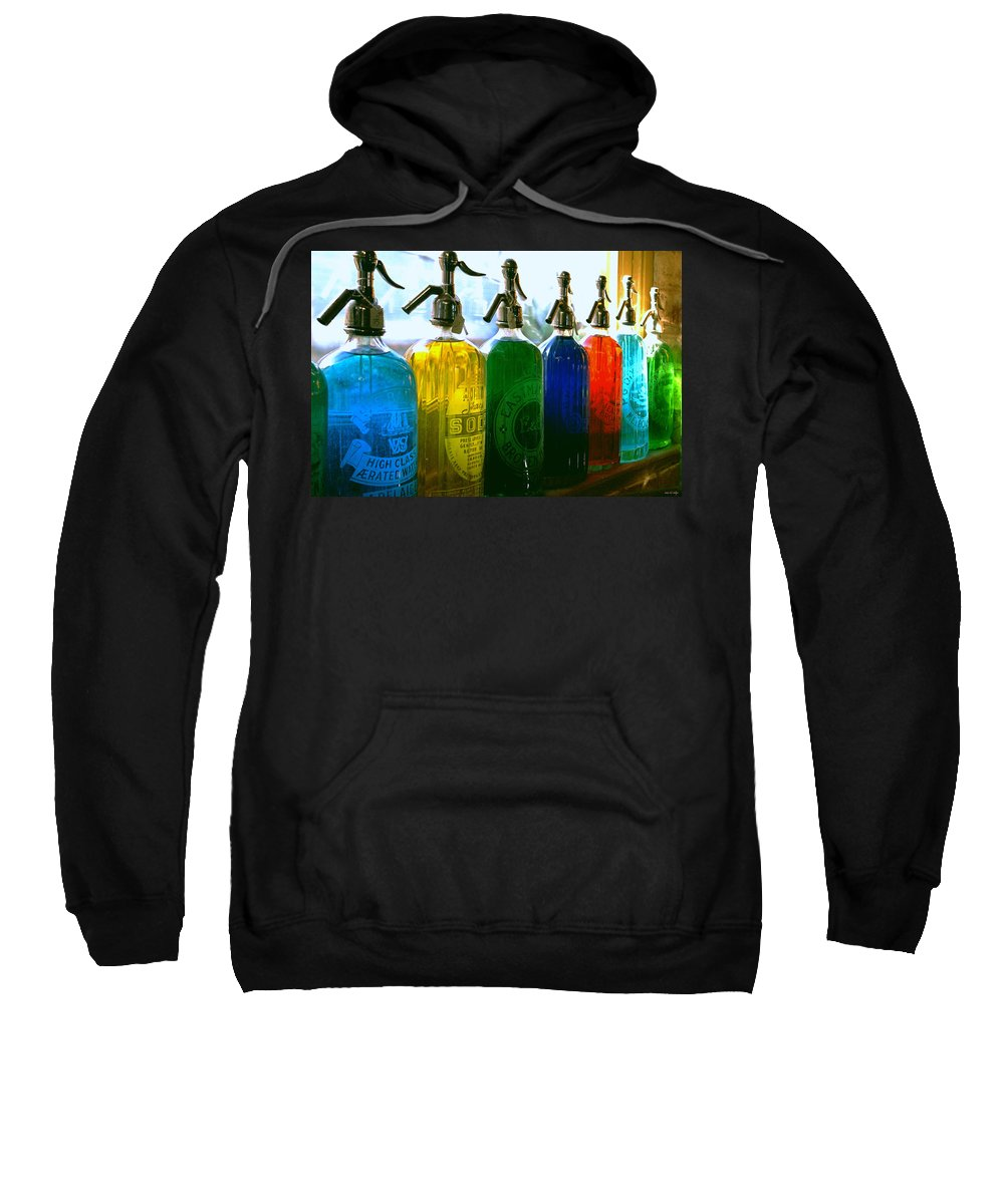 Food And Beverage Sweatshirt featuring the photograph Pour Me A Rainbow by Holly Kempe