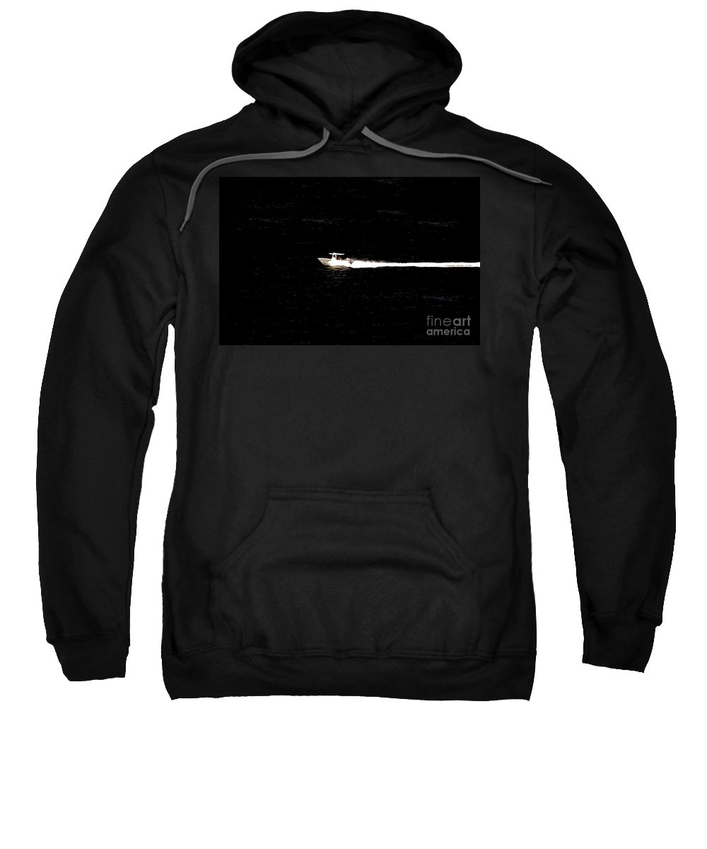 Power Boating Sweatshirt featuring the photograph Power Boating by David Lee Thompson