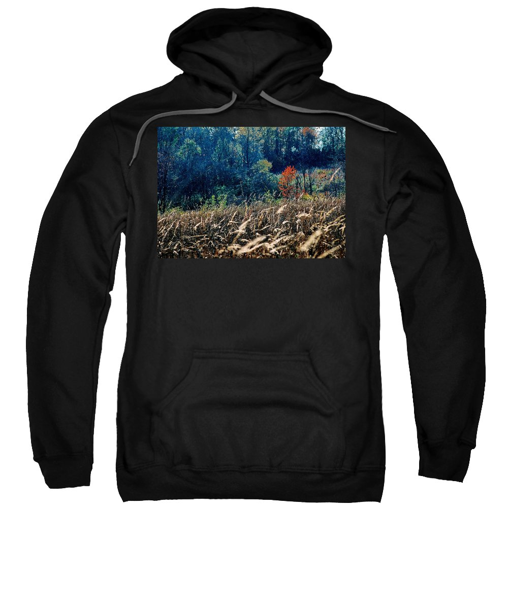 Landscape Sweatshirt featuring the photograph Prairie Edge by Steve Karol