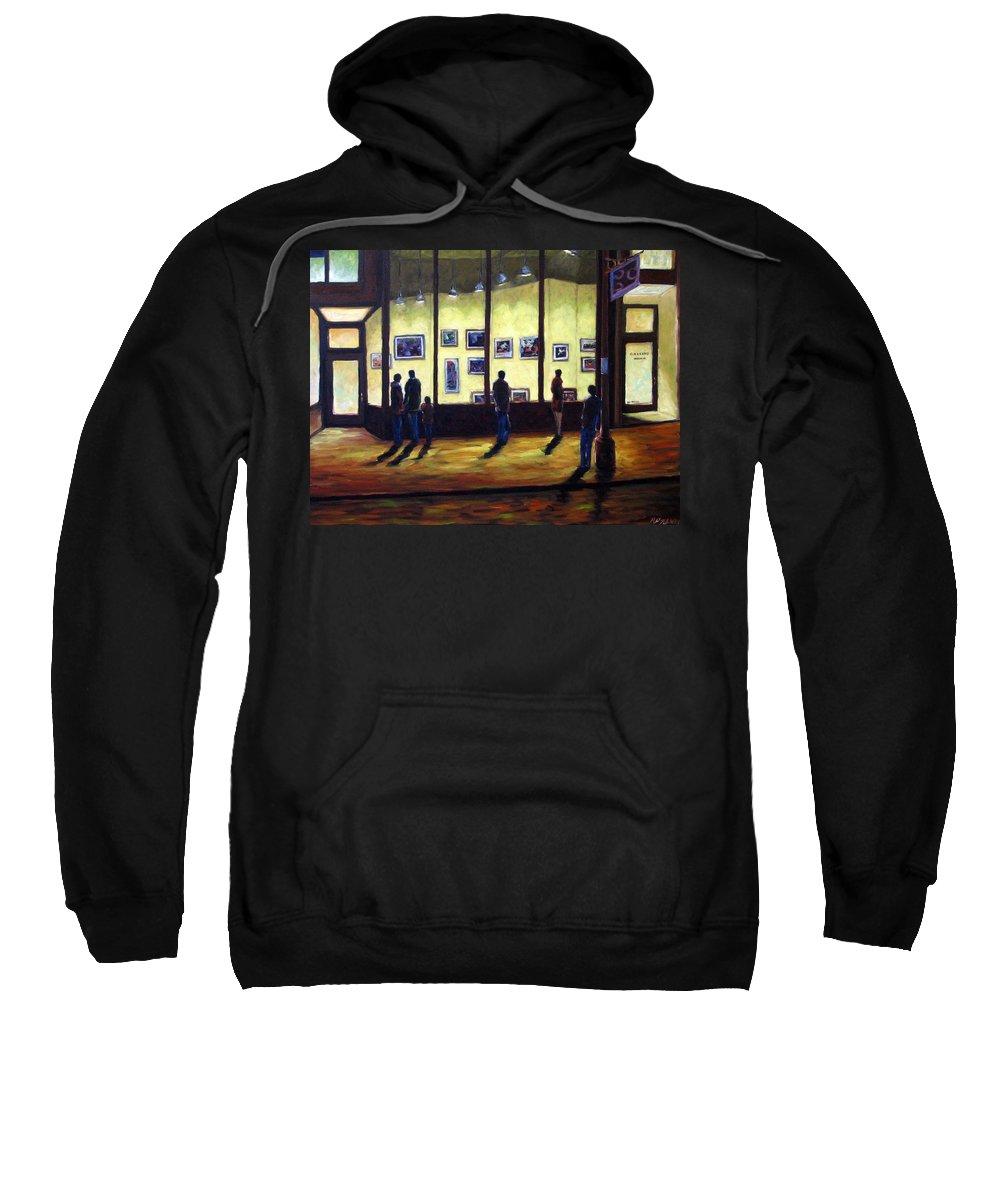 Urban Sweatshirt featuring the painting Pranke by Richard T Pranke