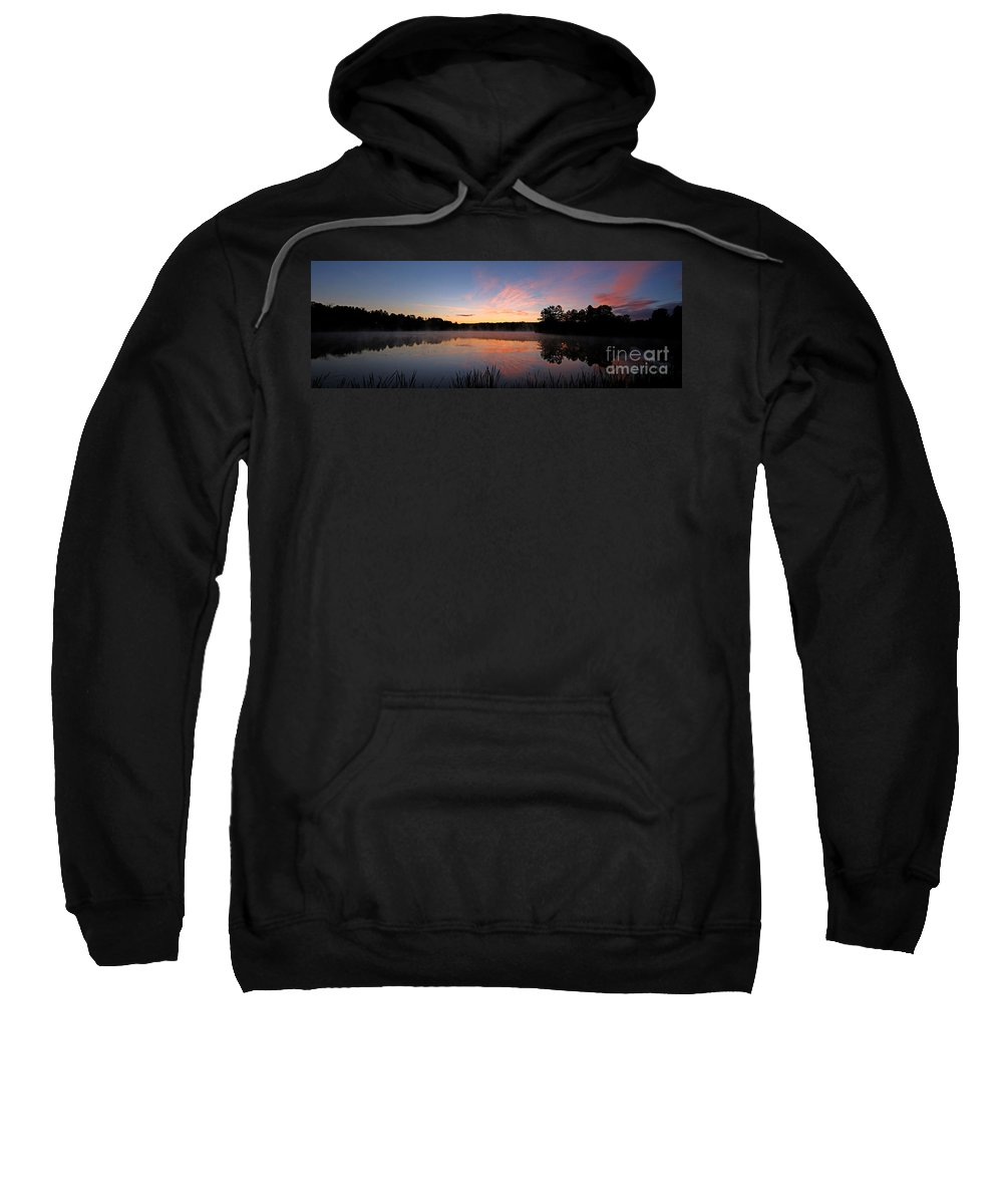 Sun Sweatshirt featuring the photograph Prat Pond Morning by James F Towne