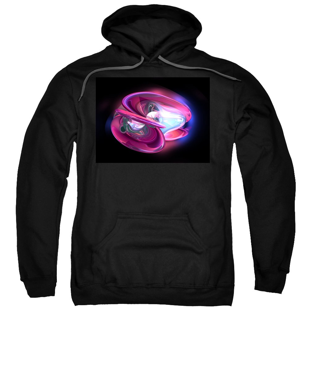 3d Sweatshirt featuring the digital art Precious Pearl Abstract by Alexander Butler