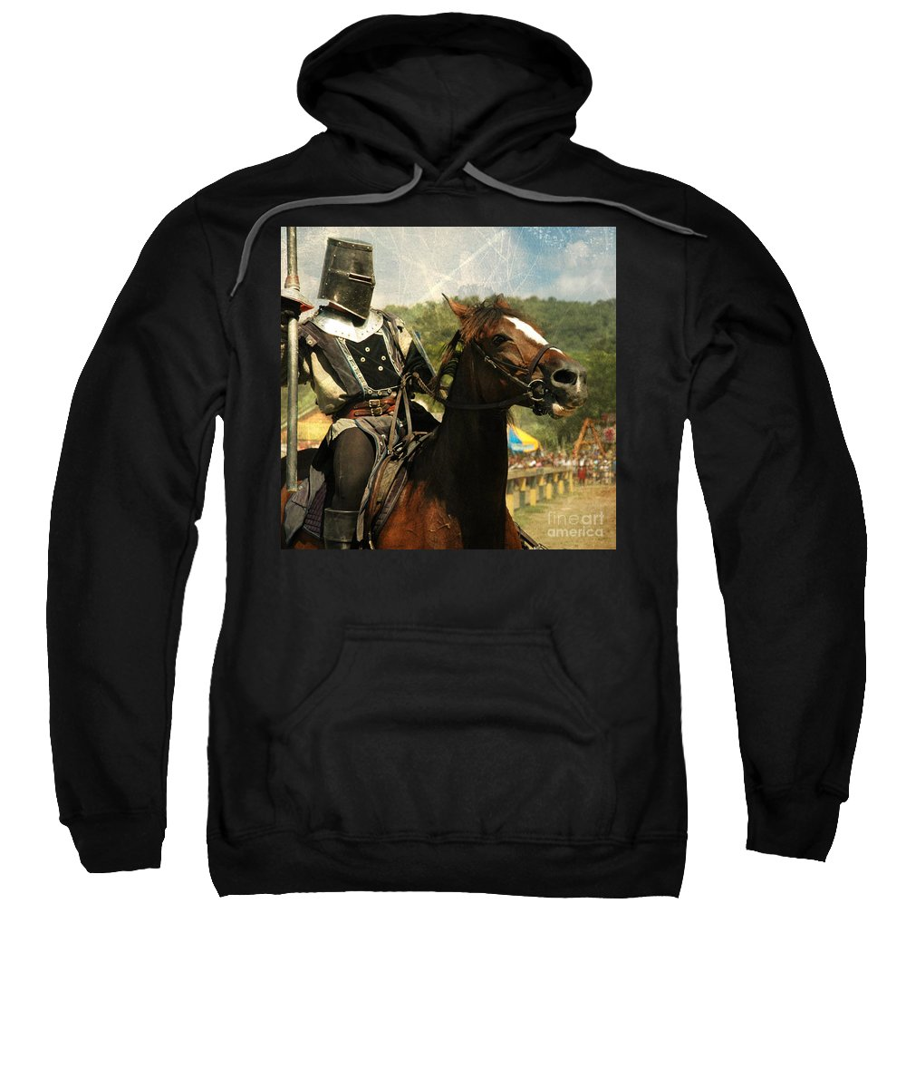 Medieval Sweatshirt featuring the photograph Prepare The Joust by Paul Ward