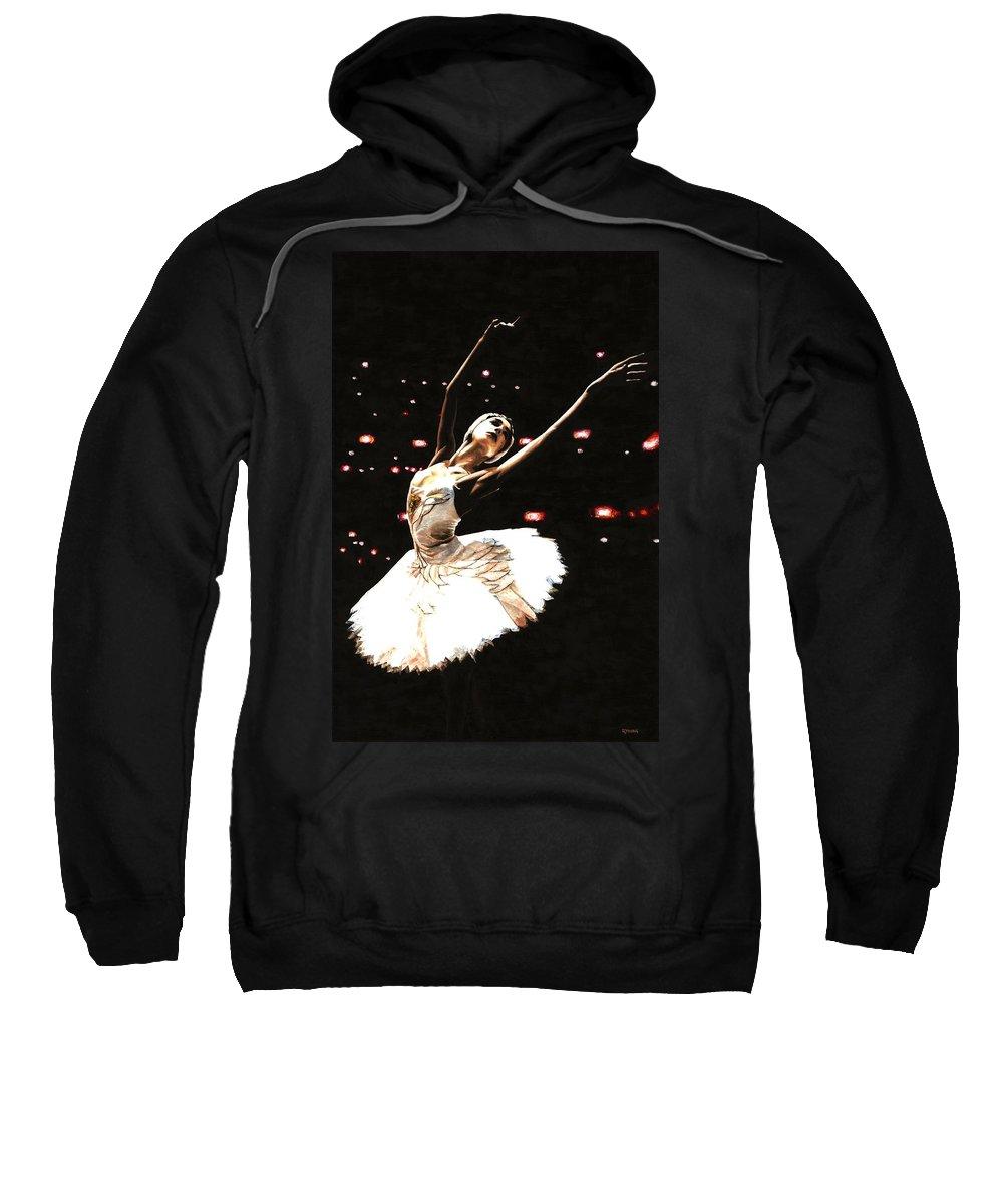 Prima Ballerina Sweatshirt featuring the painting Prima Ballerina by Richard Young
