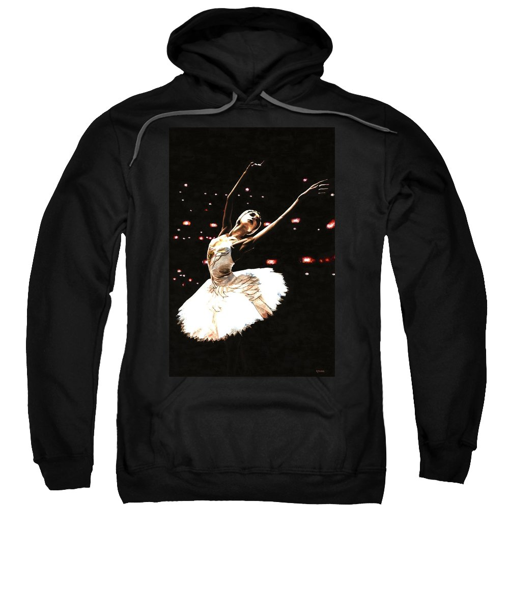 Prima Ballerina Sweatshirt featuring the painting Prima Ballerina by Richard Young
