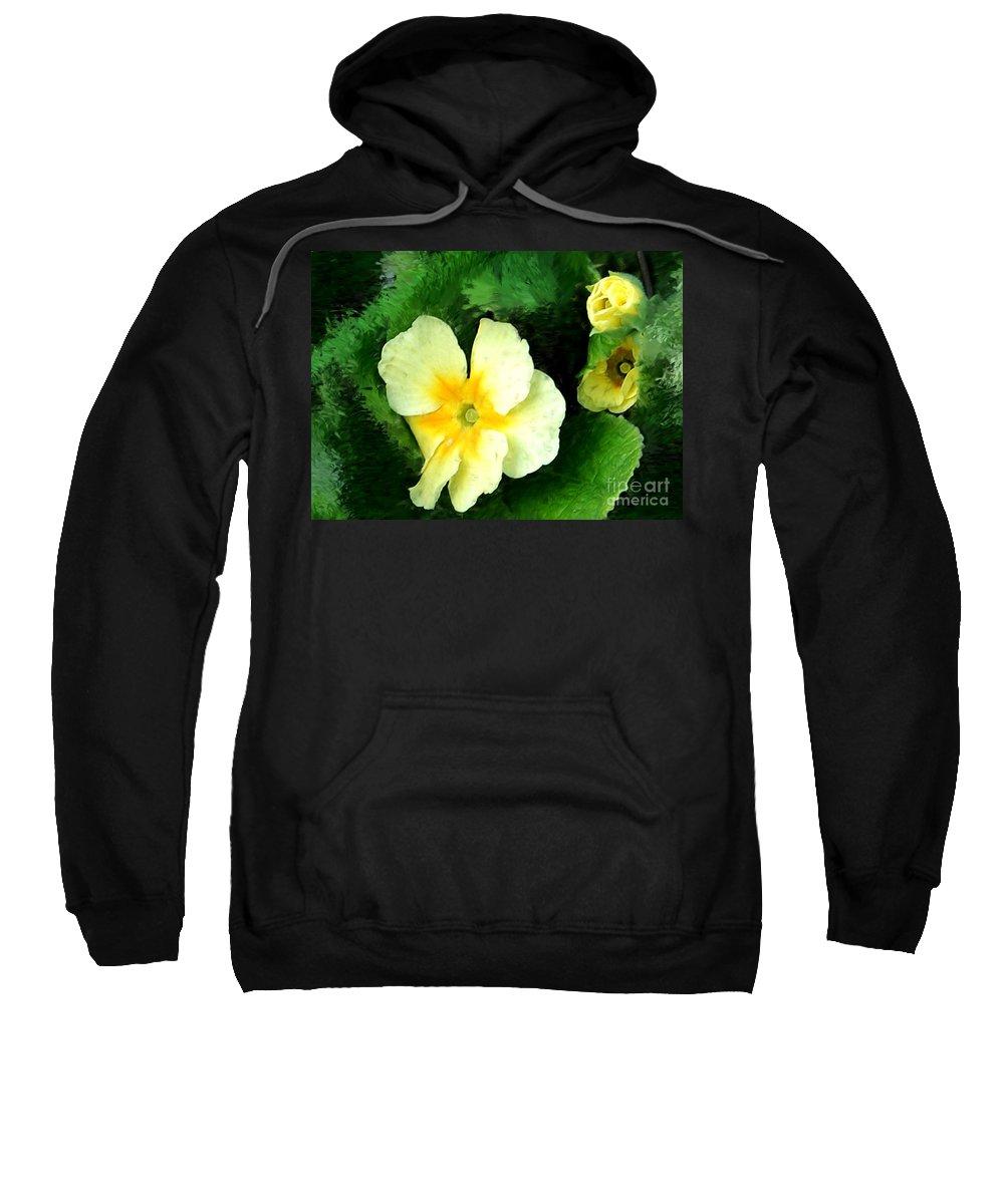 Digital Photograph Sweatshirt featuring the photograph Primrose 2 by David Lane