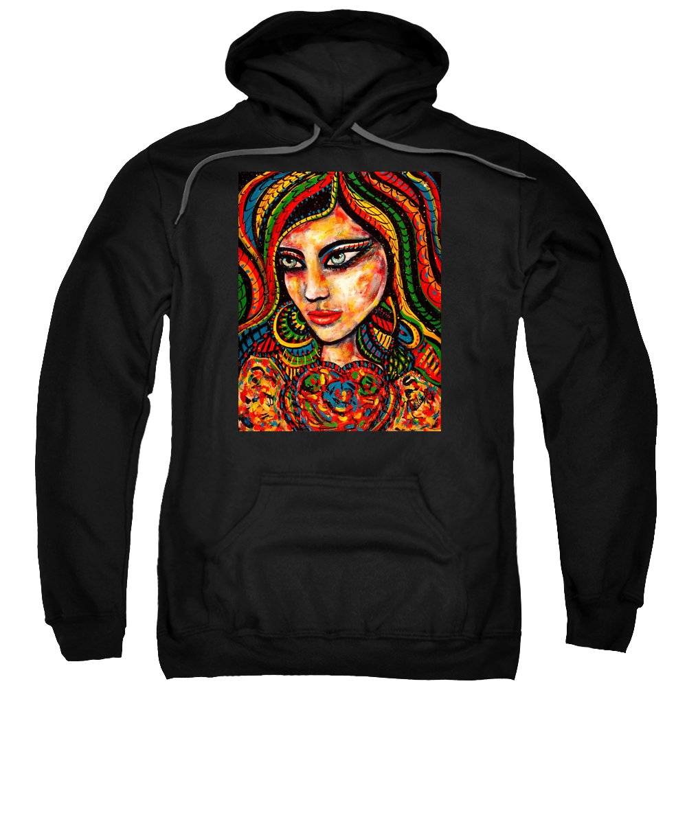 Romance Sweatshirt featuring the painting Princess Of Desire by Natalie Holland