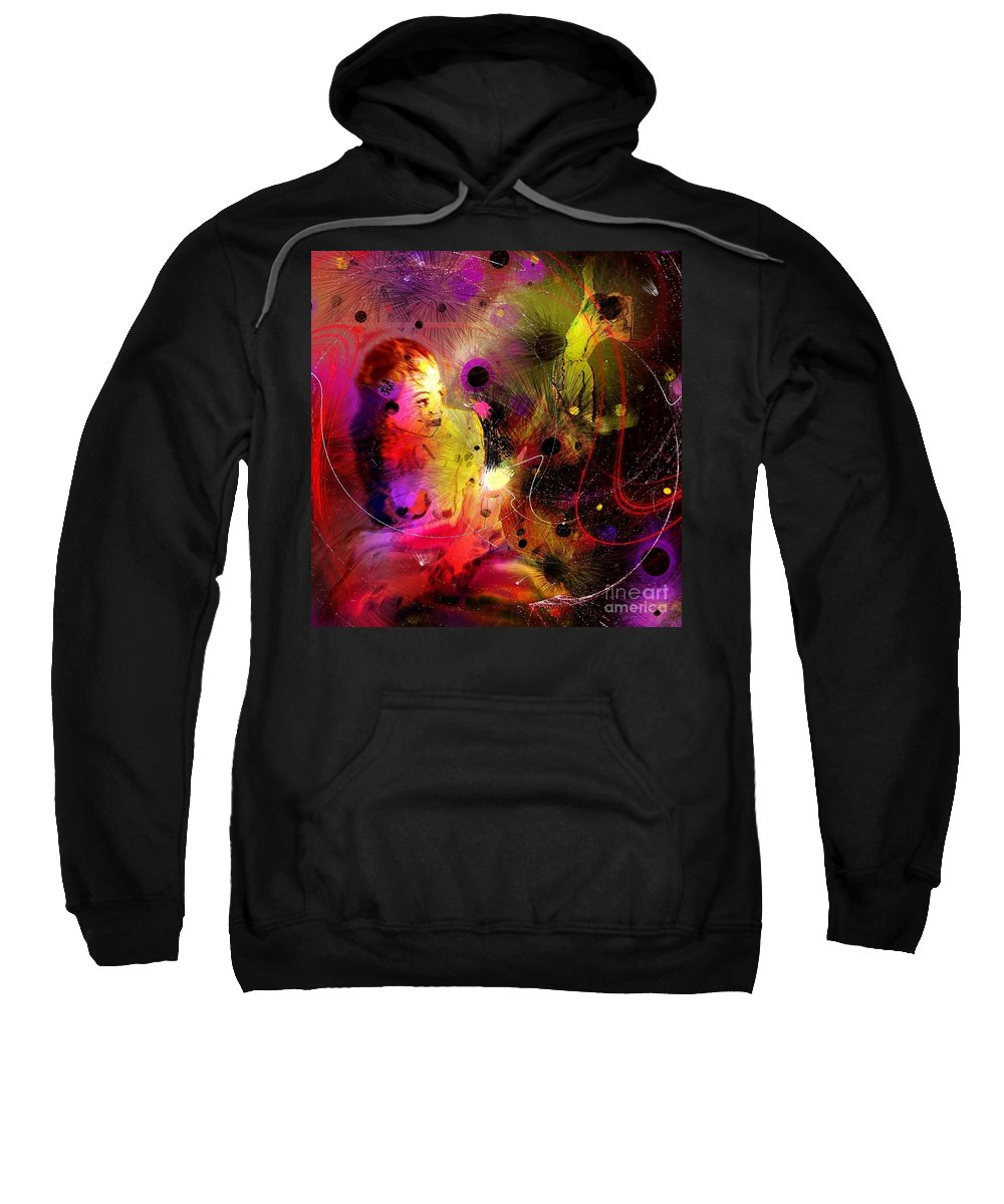 Nudes Sweatshirt featuring the painting Prisoner Of The Past by Miki De Goodaboom