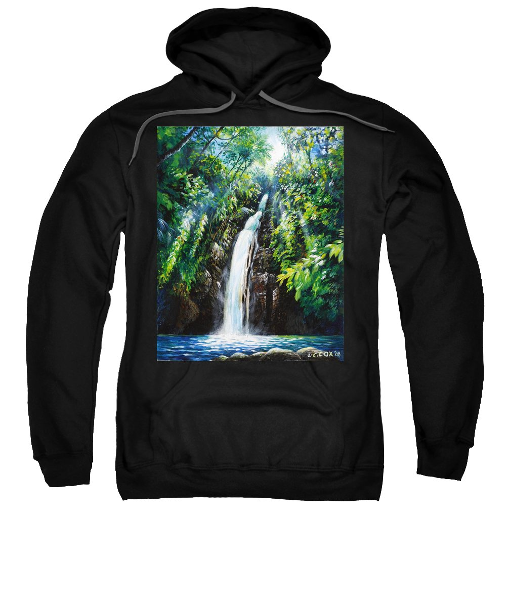 Chris Cox Sweatshirt featuring the painting Pristine by Christopher Cox