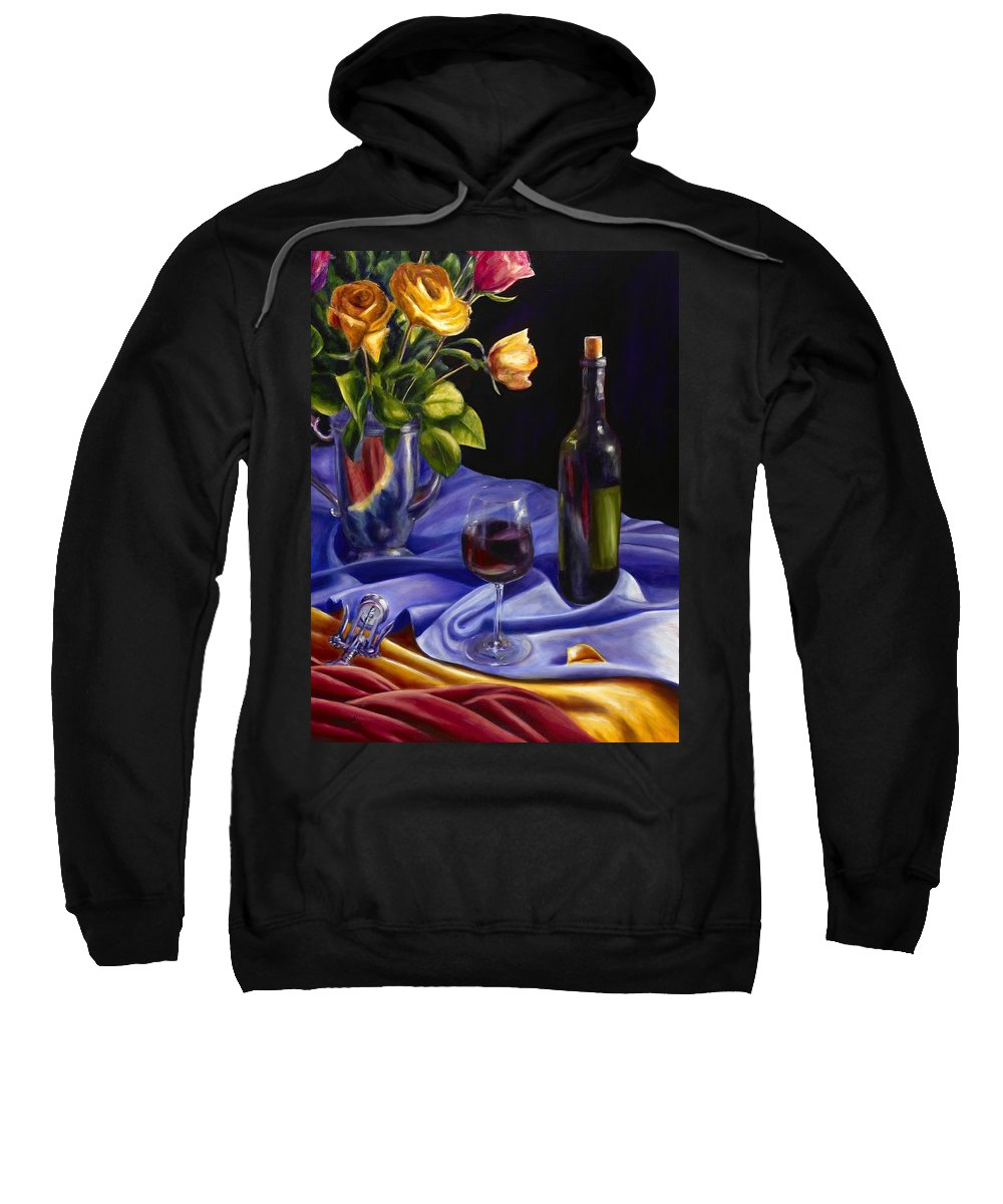 Still Life Sweatshirt featuring the painting Private Label by Shannon Grissom