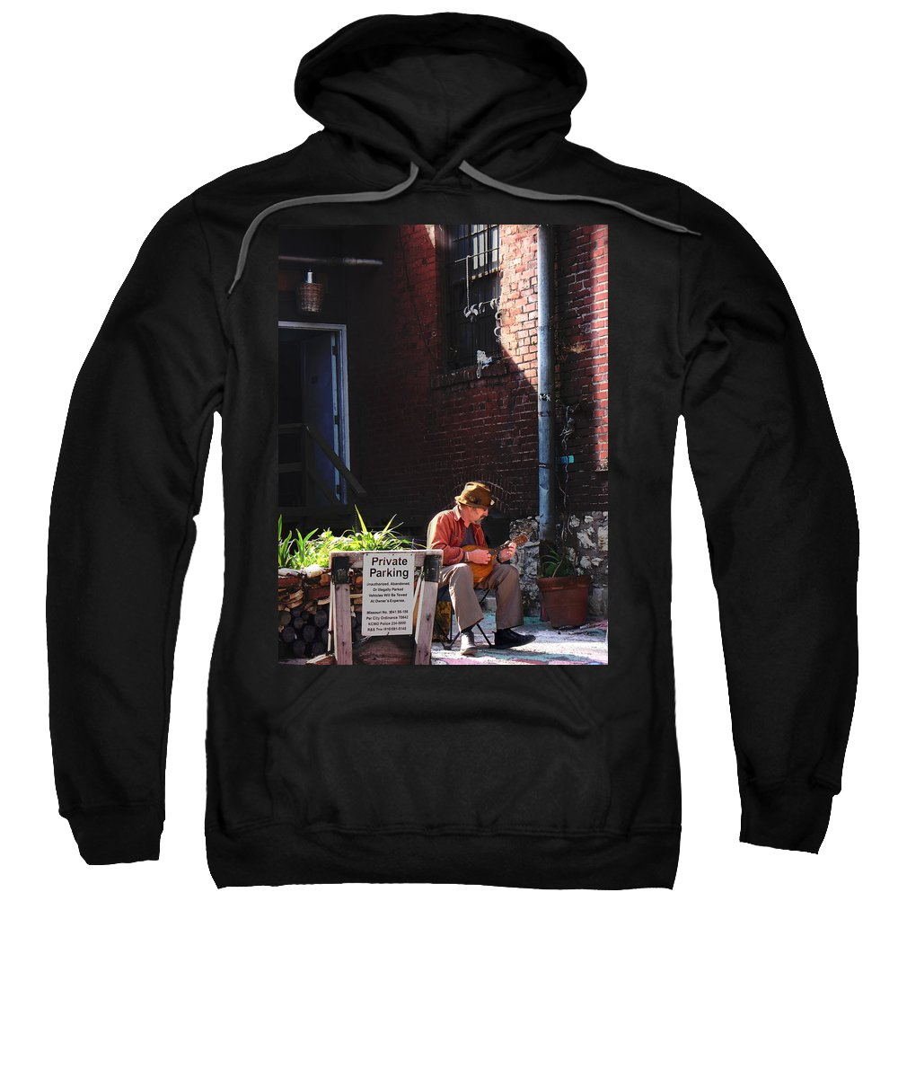 City Scape Sweatshirt featuring the photograph Private Parking by Steve Karol