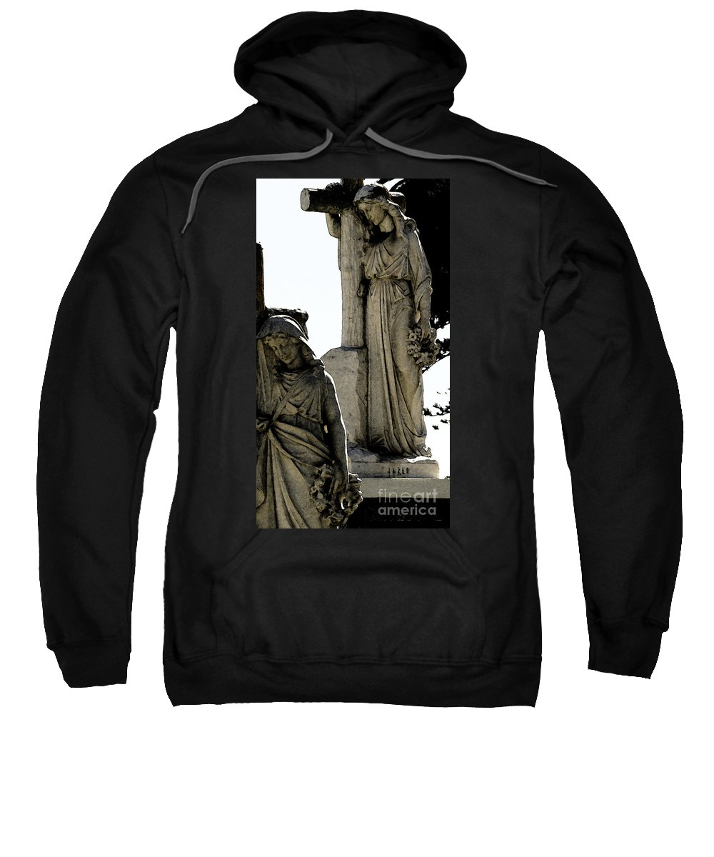 Cross Sweatshirt featuring the photograph Procession Of Faith by Linda Shafer