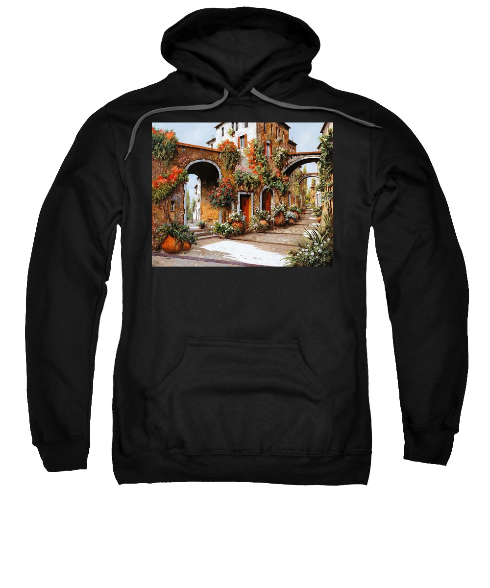 Landscape Sweatshirt featuring the painting Profumi Di Paese by Guido Borelli