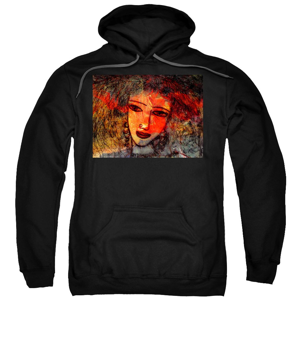 Expressionism Sweatshirt featuring the mixed media Promises by Natalie Holland