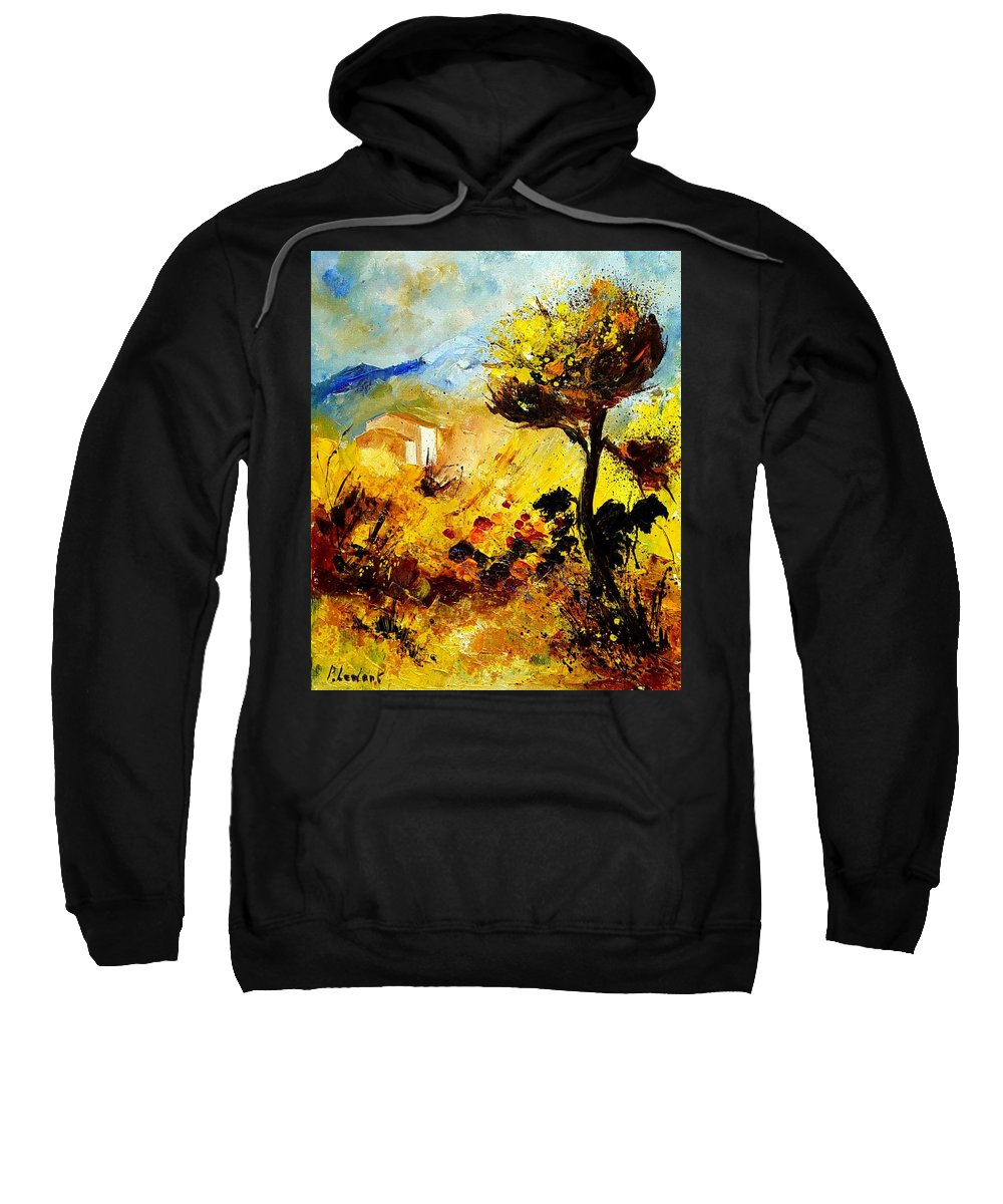 Flowers Sweatshirt featuring the painting Provence 56 by Pol Ledent