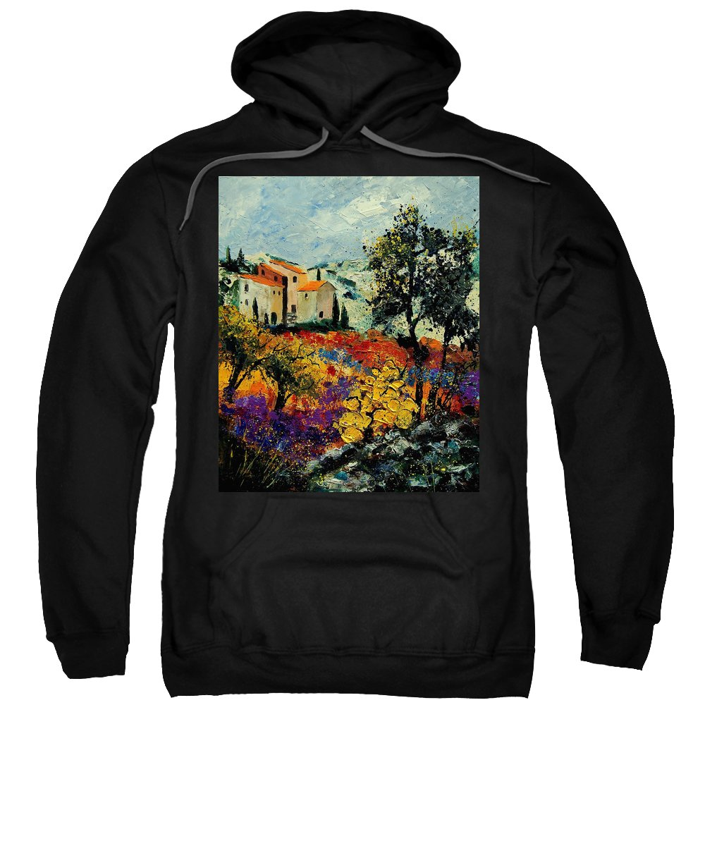 Provence Sweatshirt featuring the painting Provence 56900192 by Pol Ledent