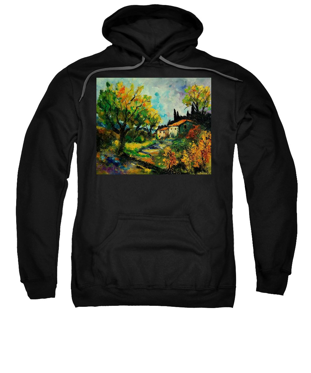 Landscape Sweatshirt featuring the painting Provence 670110 by Pol Ledent