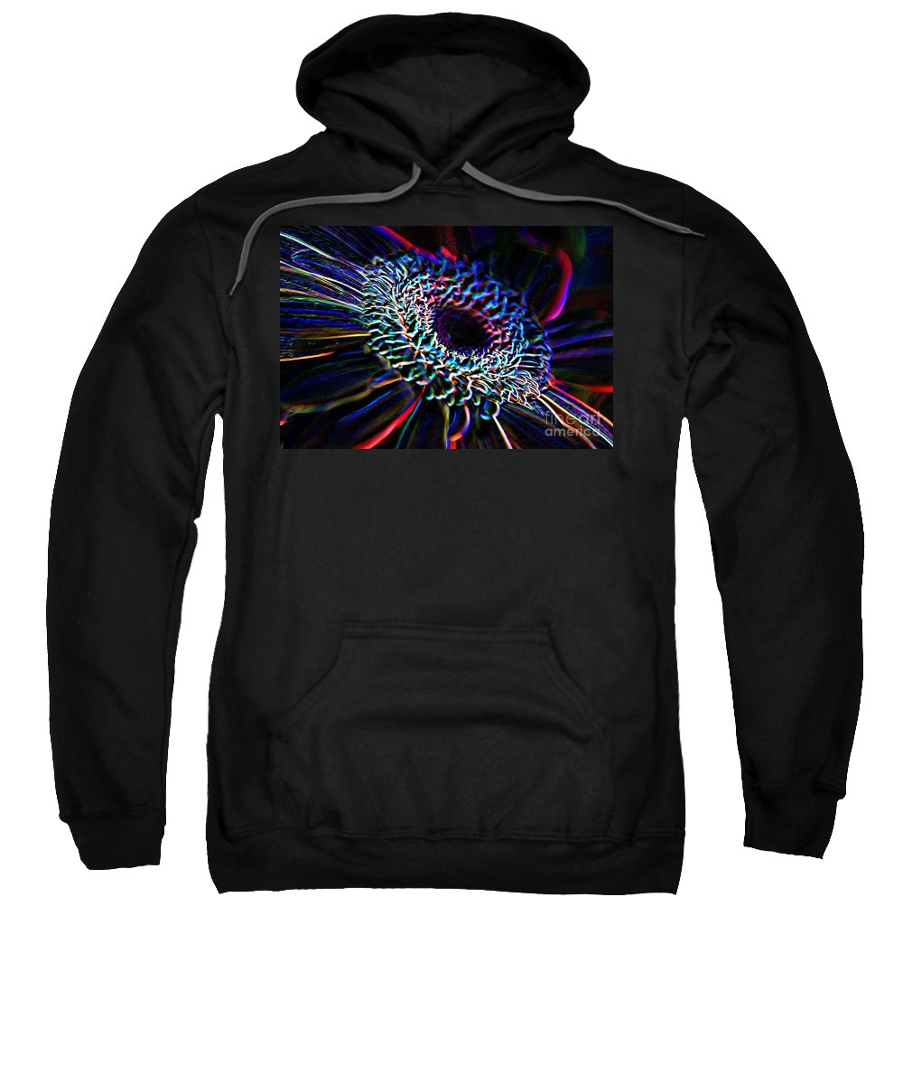 Psychedelic Sweatshirt featuring the photograph Psychedelic Neon by Charles Dobbs
