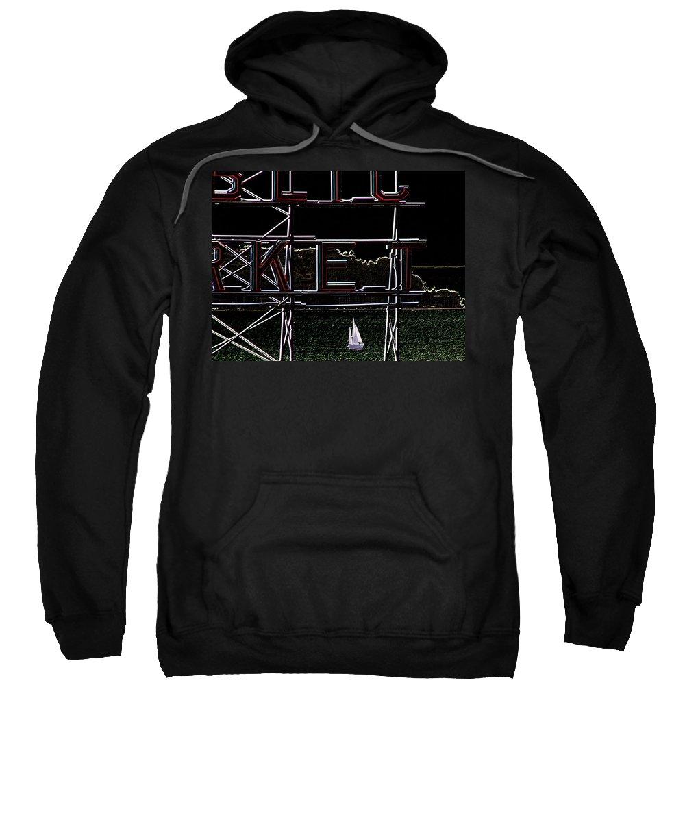 Seattle Sweatshirt featuring the photograph Public Market Sail by Tim Allen