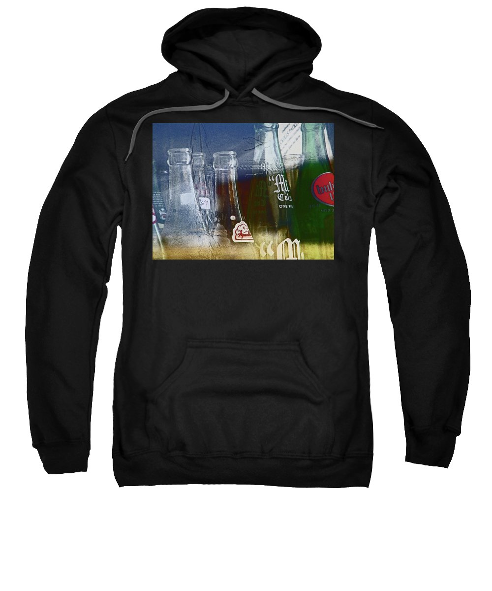 Abstract Sweatshirt featuring the photograph Pueblo Downtown Collectibles by Lenore Senior