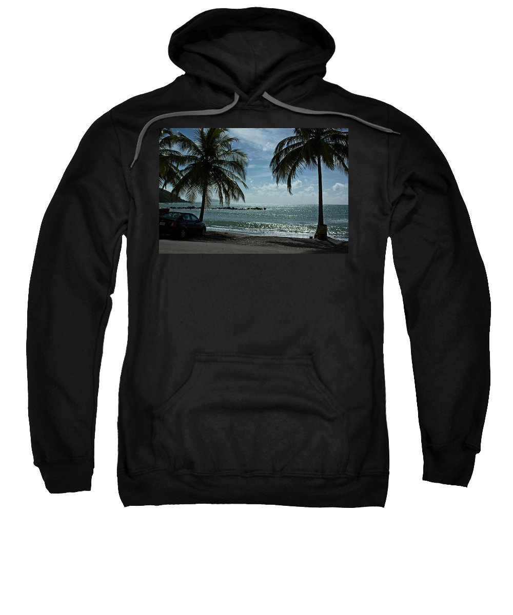 Landscape Sweatshirt featuring the photograph Puerto Rican Beach by Tito Santiago