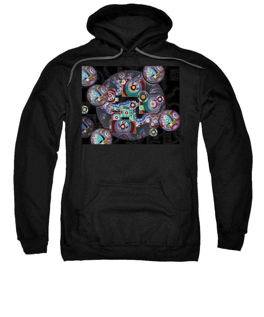 Multicolored Sweatshirt featuring the digital art Pulse Of The Motherboard by Lynda Lehmann