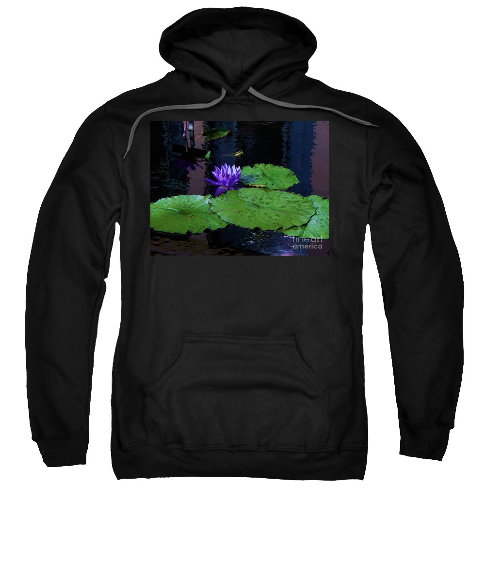 Photograph Sweatshirt featuring the photograph Purple Blue Lily by Eric Schiabor