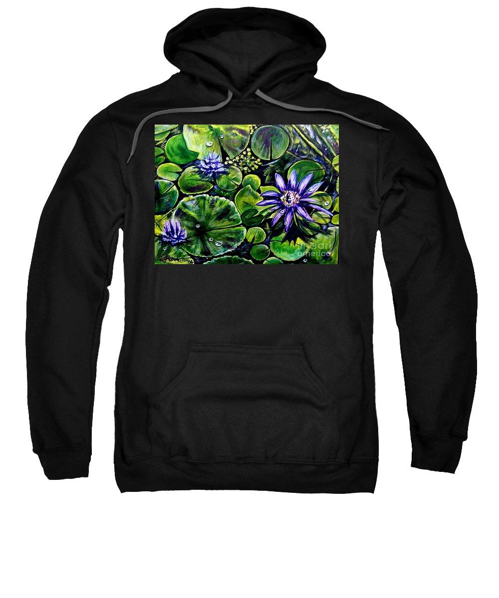 Purple Sweatshirt featuring the painting Purple Dawn by Elizabeth Robinette Tyndall