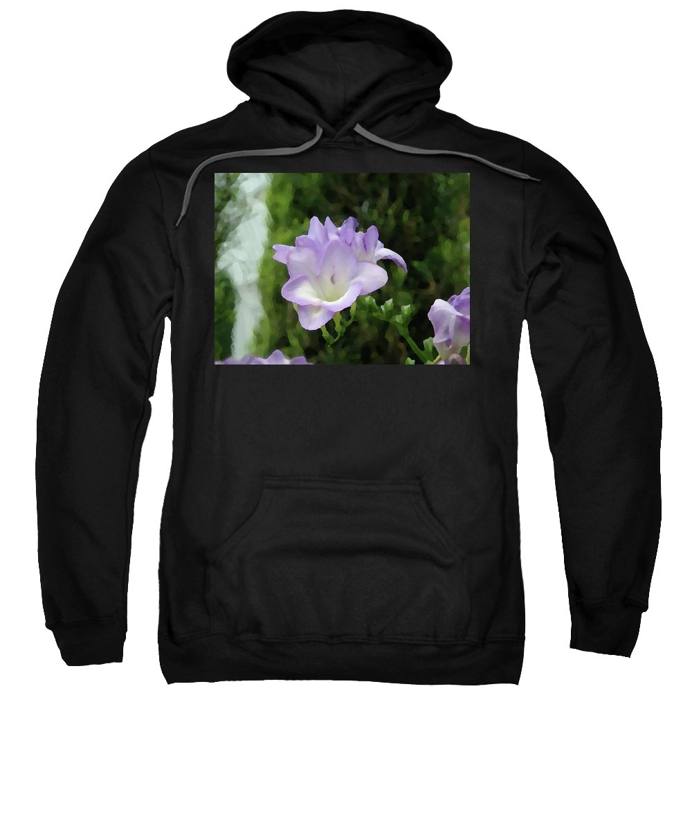 Floral Sweatshirt featuring the photograph Purple Flower Painting by Alice Markham