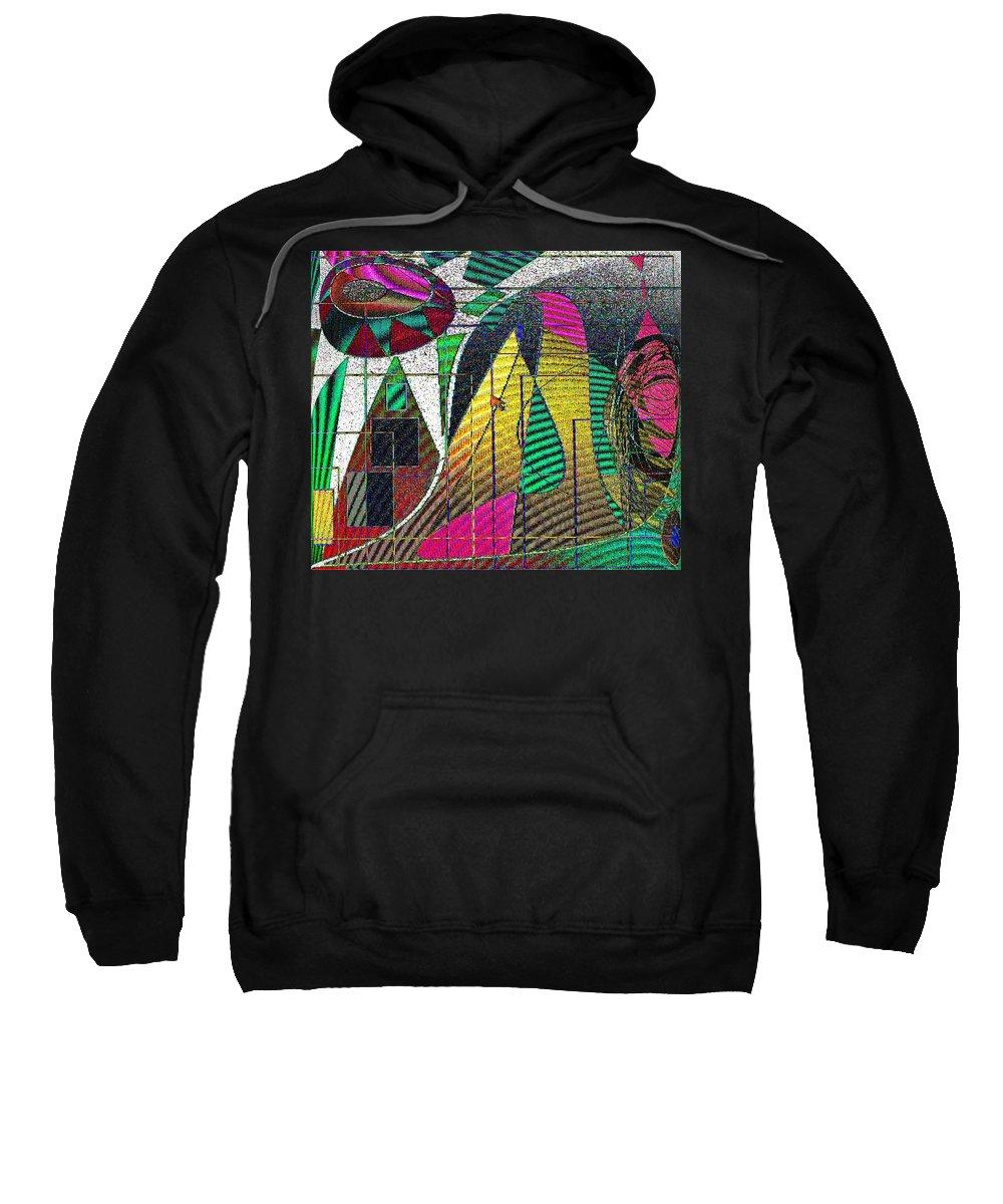 Purple Sweatshirt featuring the digital art Purple Haze by Ian MacDonald