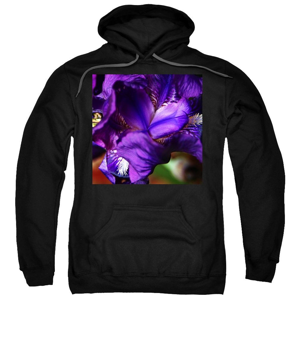Sweatshirt featuring the photograph Purple Iris by Anthony Jones