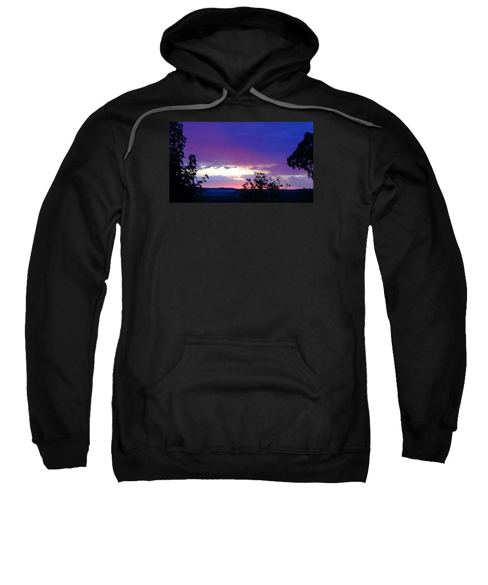Purple Sunset Sweatshirt featuring the photograph Purple Passion by Toni Berry