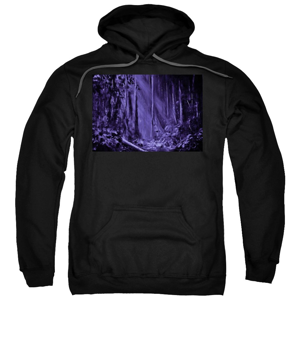 Abstract Sweatshirt featuring the painting Purple Planet by Eugene Budden