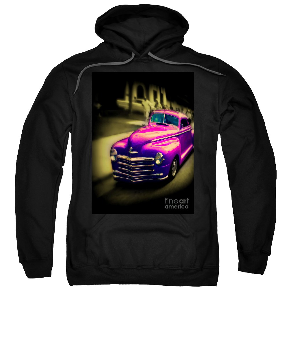 Car Sweatshirt featuring the photograph Purple Ride by Perry Webster
