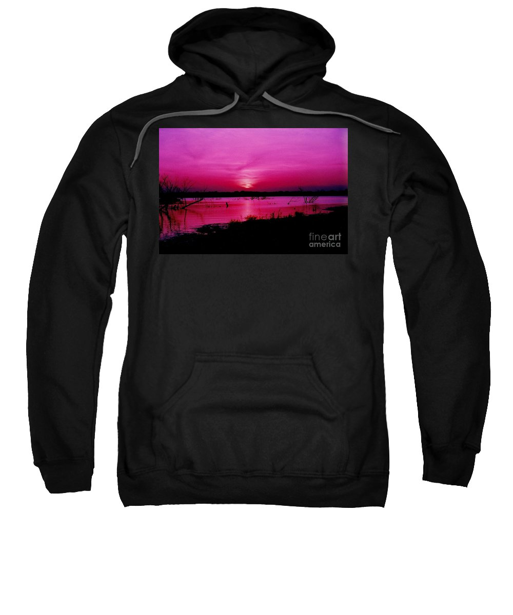 Sunset Sweatshirt featuring the photograph Purple Sunset by Timothy Sanford