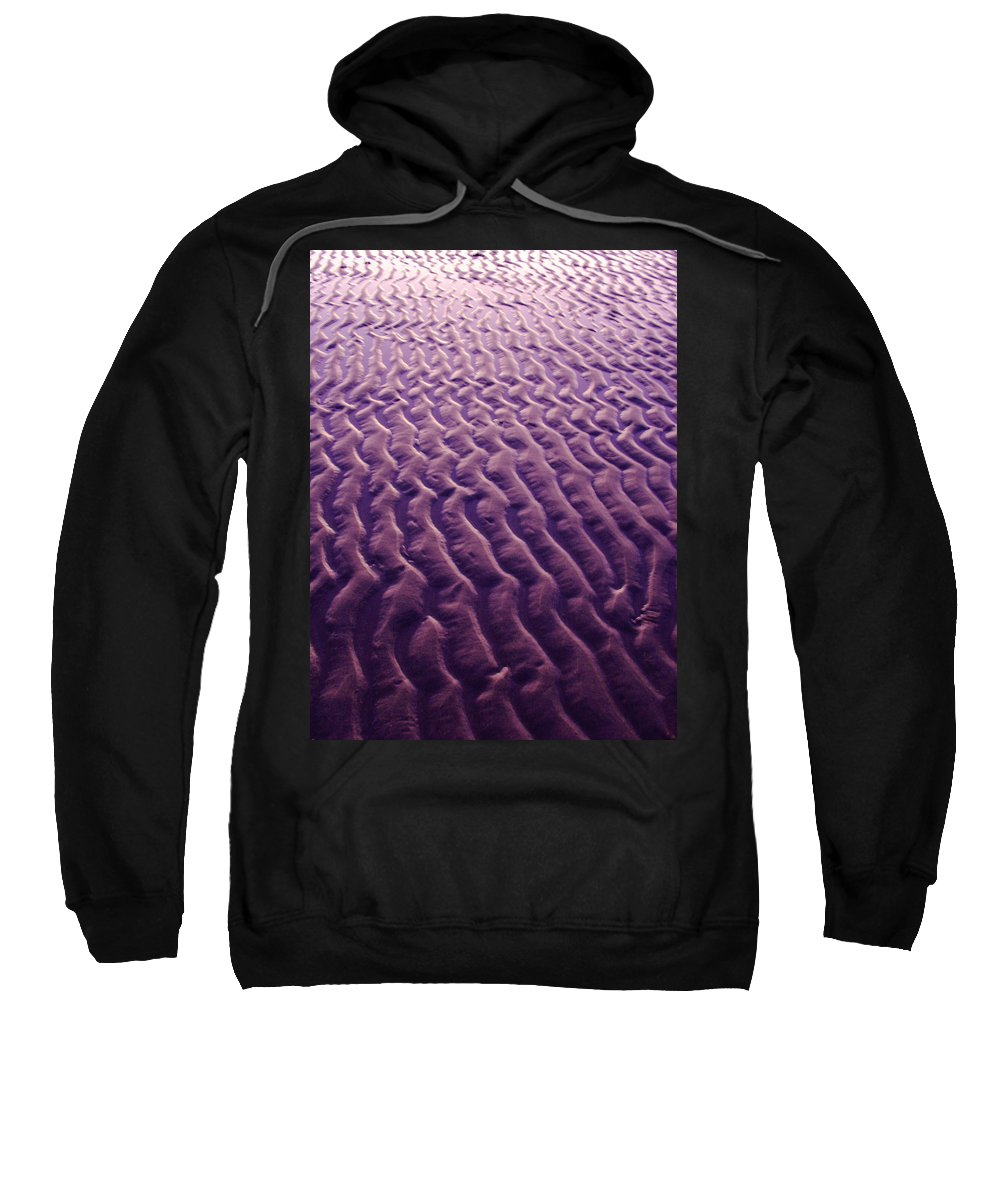 Sand Sweatshirt featuring the photograph Purple Waves Of Sand by Jill Reger