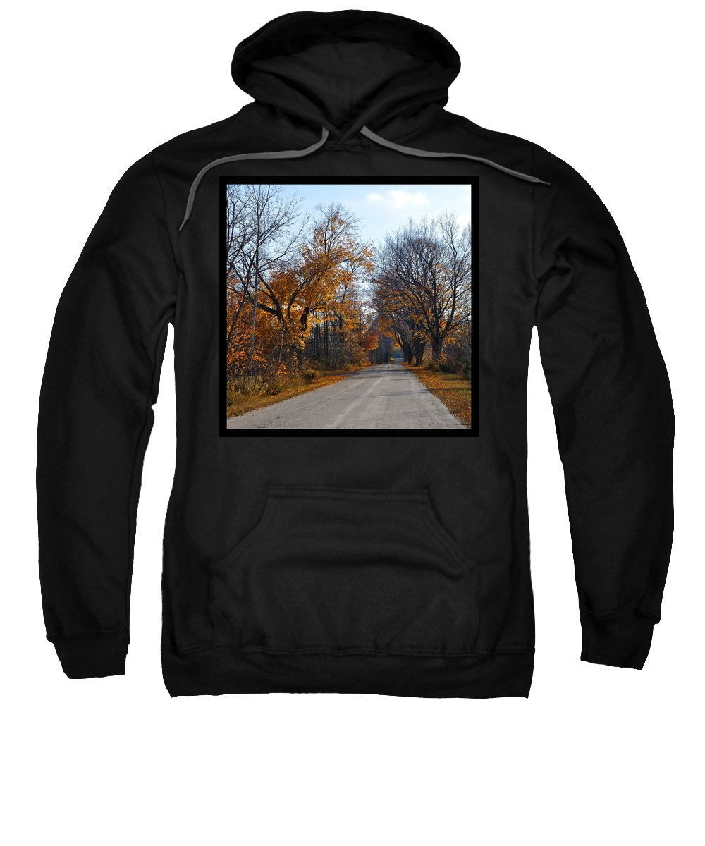 Road Sweatshirt featuring the photograph Quarterline Road by Tim Nyberg