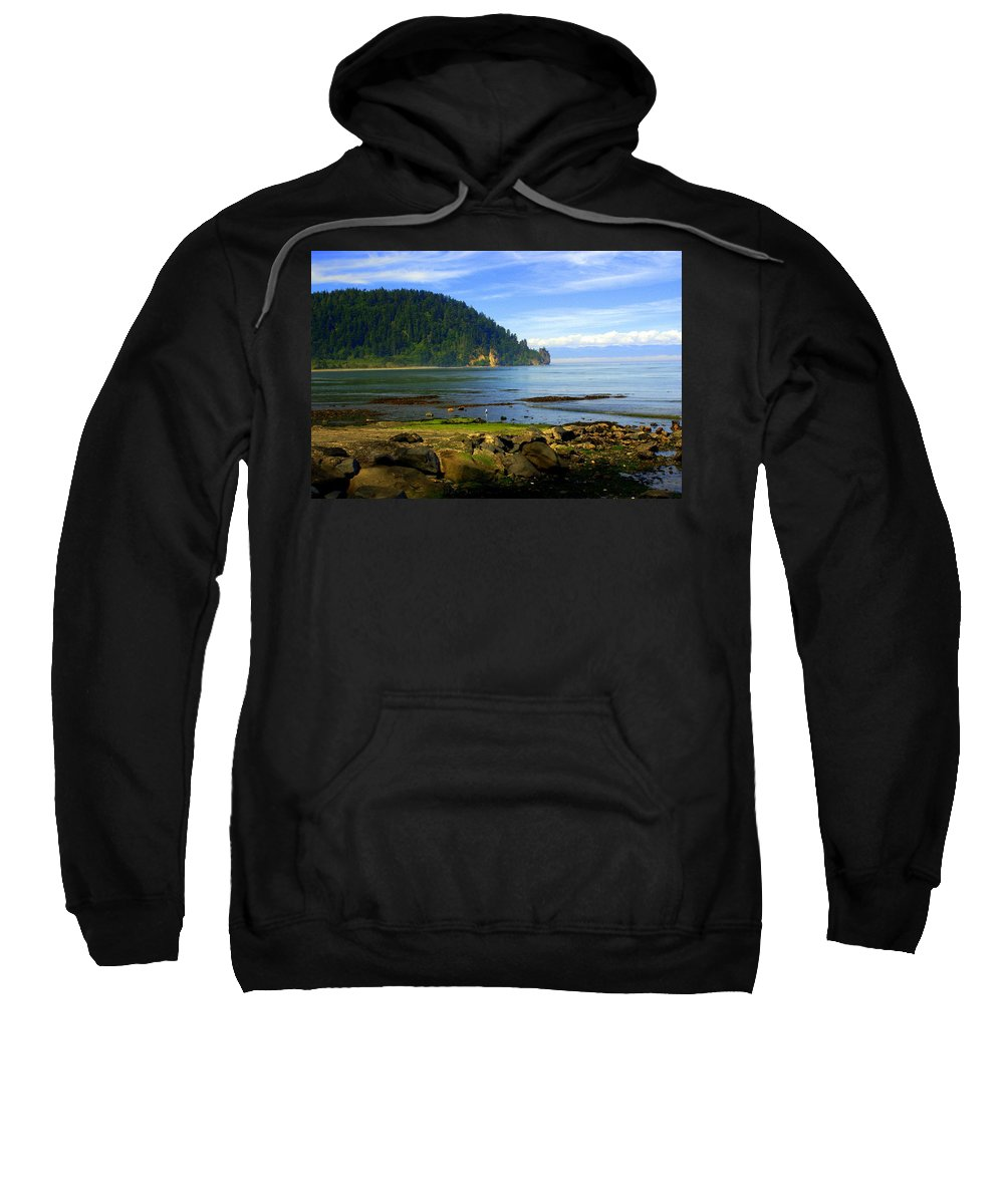 Olympic Sweatshirt featuring the photograph Quiet Bay by Marty Koch