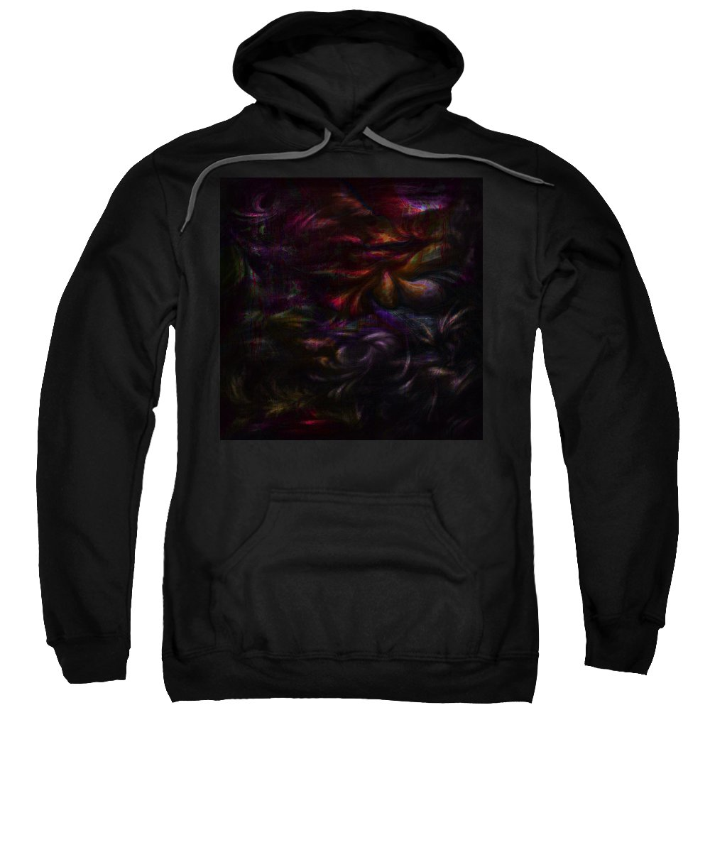 Abstract Sweatshirt featuring the digital art Quiet Places Of Long Ago by Rachel Christine Nowicki