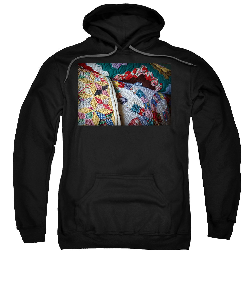Quilt Sweatshirt featuring the photograph Quilted Comfort by Cricket Hackmann