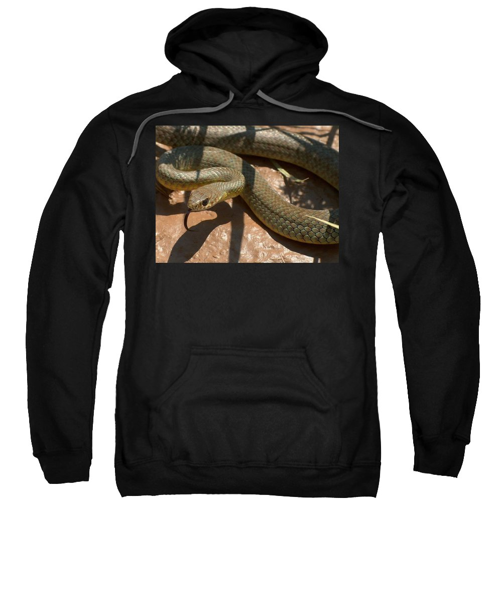 Green Racer Sweatshirt featuring the photograph Racer On The Rio Grande by Tim McCarthy