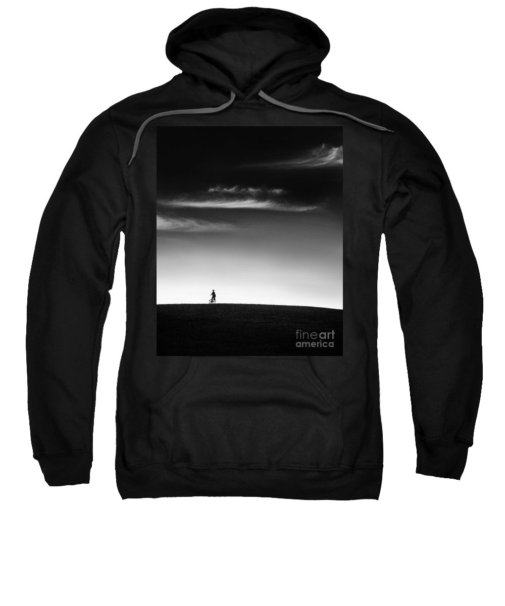 Boy Sweatshirt featuring the photograph Racing The Wind by Dana DiPasquale