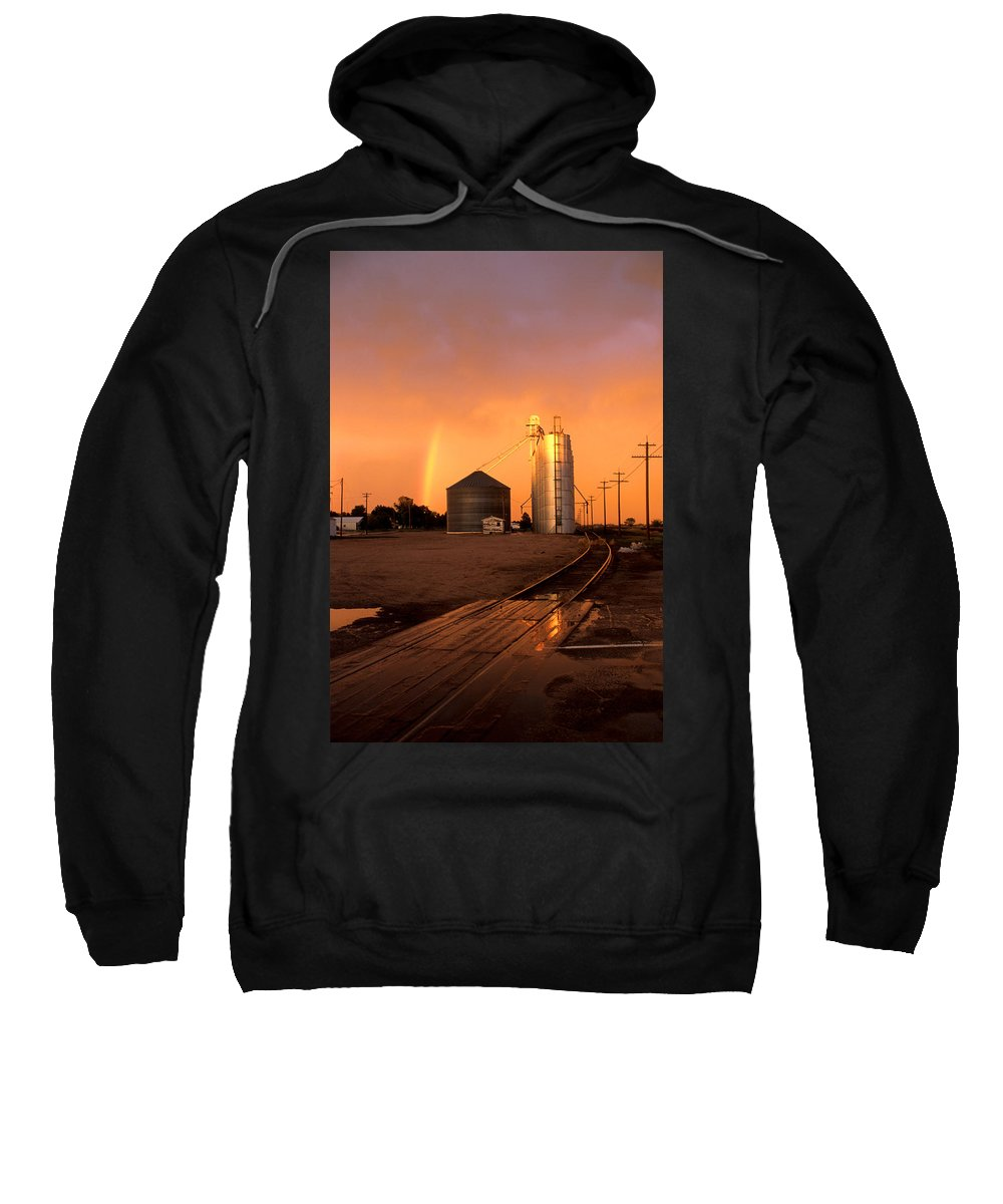 Potter Sweatshirt featuring the photograph Rainbow In Potter by Jerry McElroy