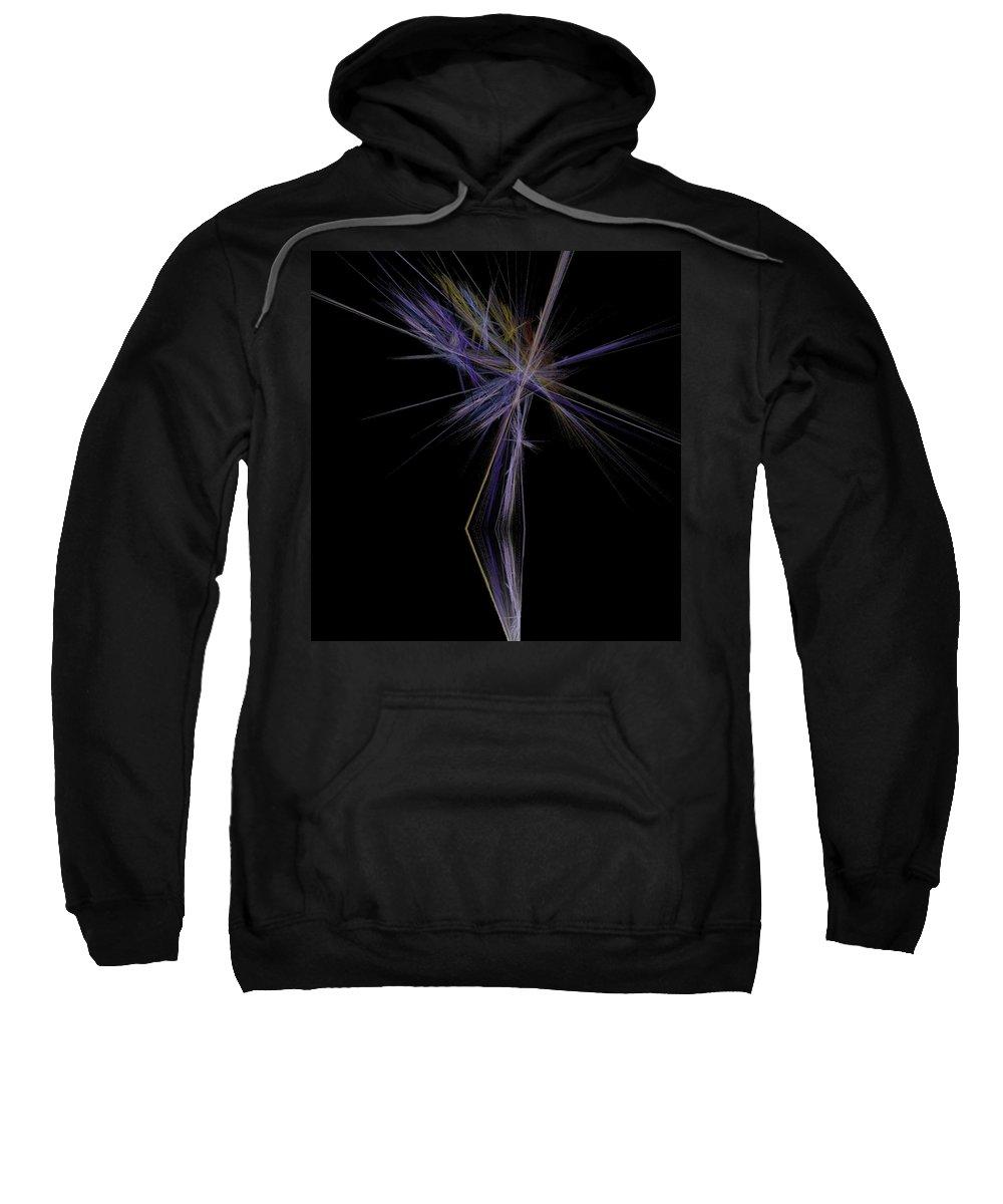 Palm Tree Sweatshirt featuring the digital art Rainbow Palm by Sara Raber