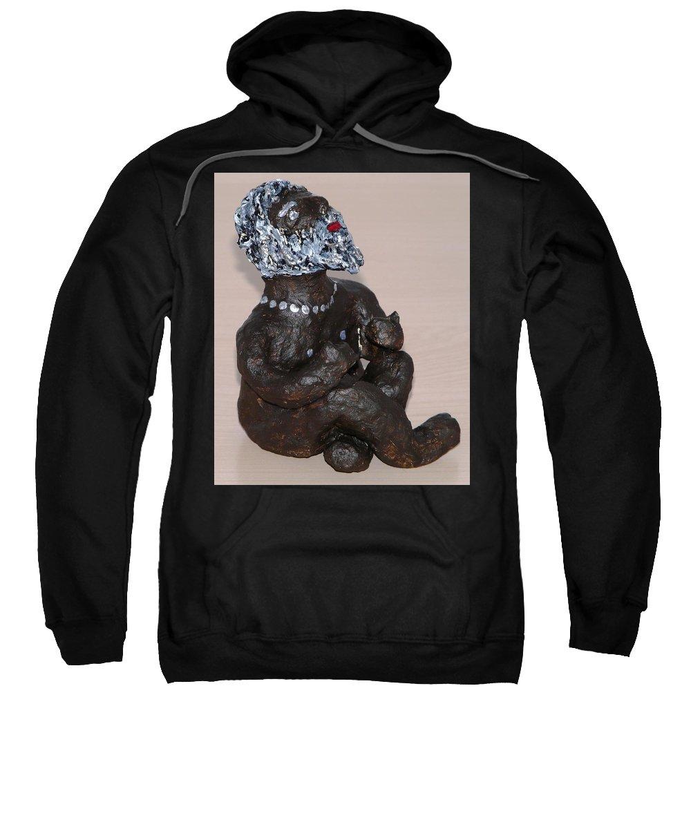 Sculpture Sweatshirt featuring the sculpture Rainwisher by Valerie Ornstein