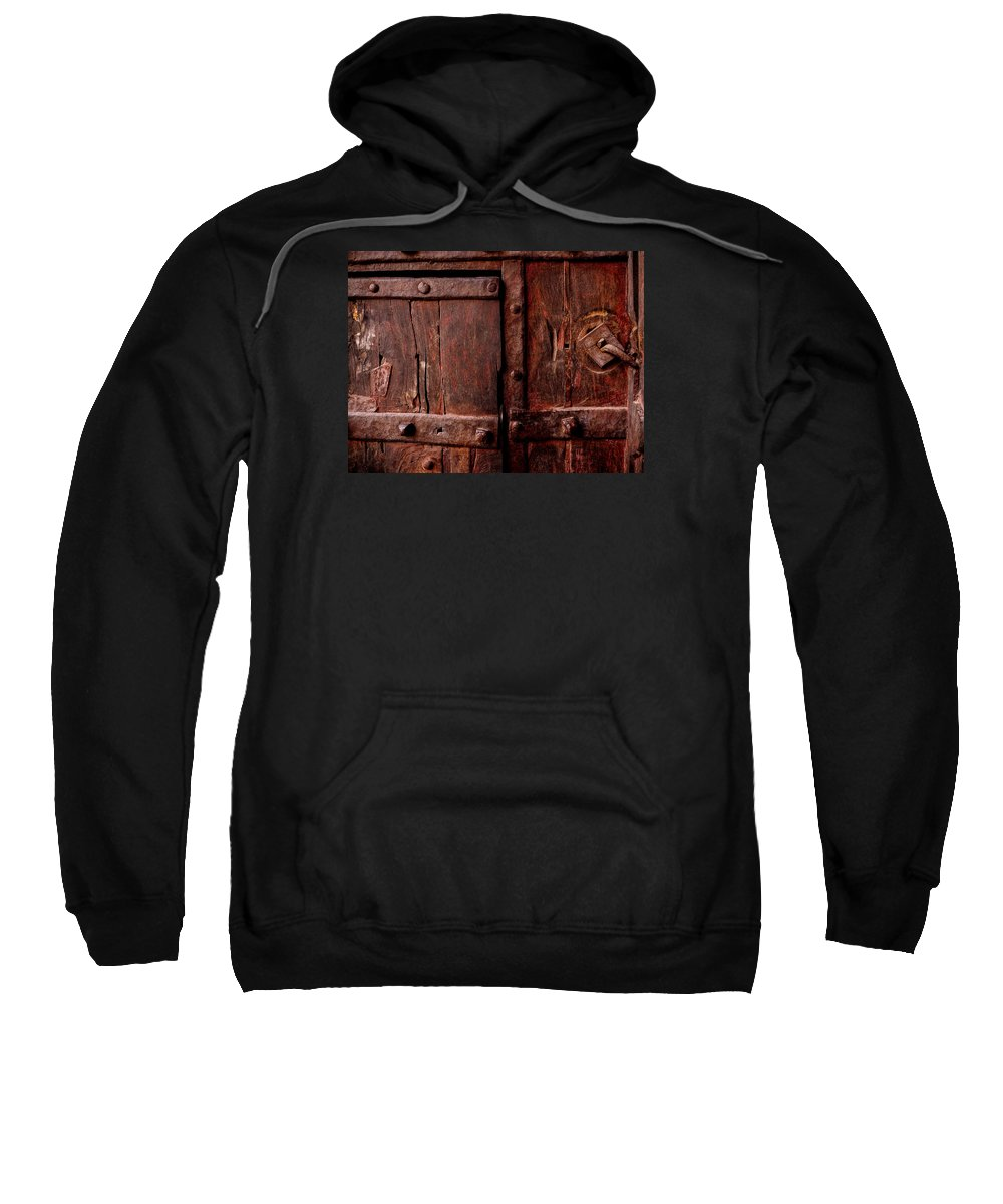 Rajasthan Sweatshirt featuring the photograph Rajasthan Door by M G Whittingham