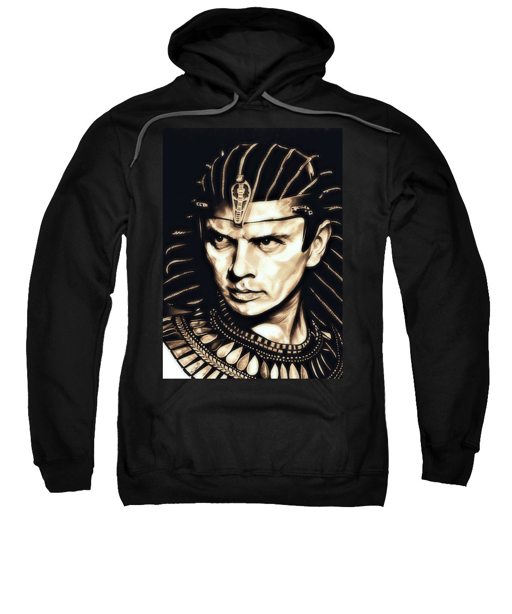 Ten Commandments Sweatshirt featuring the drawing Ramses II by Fred Larucci