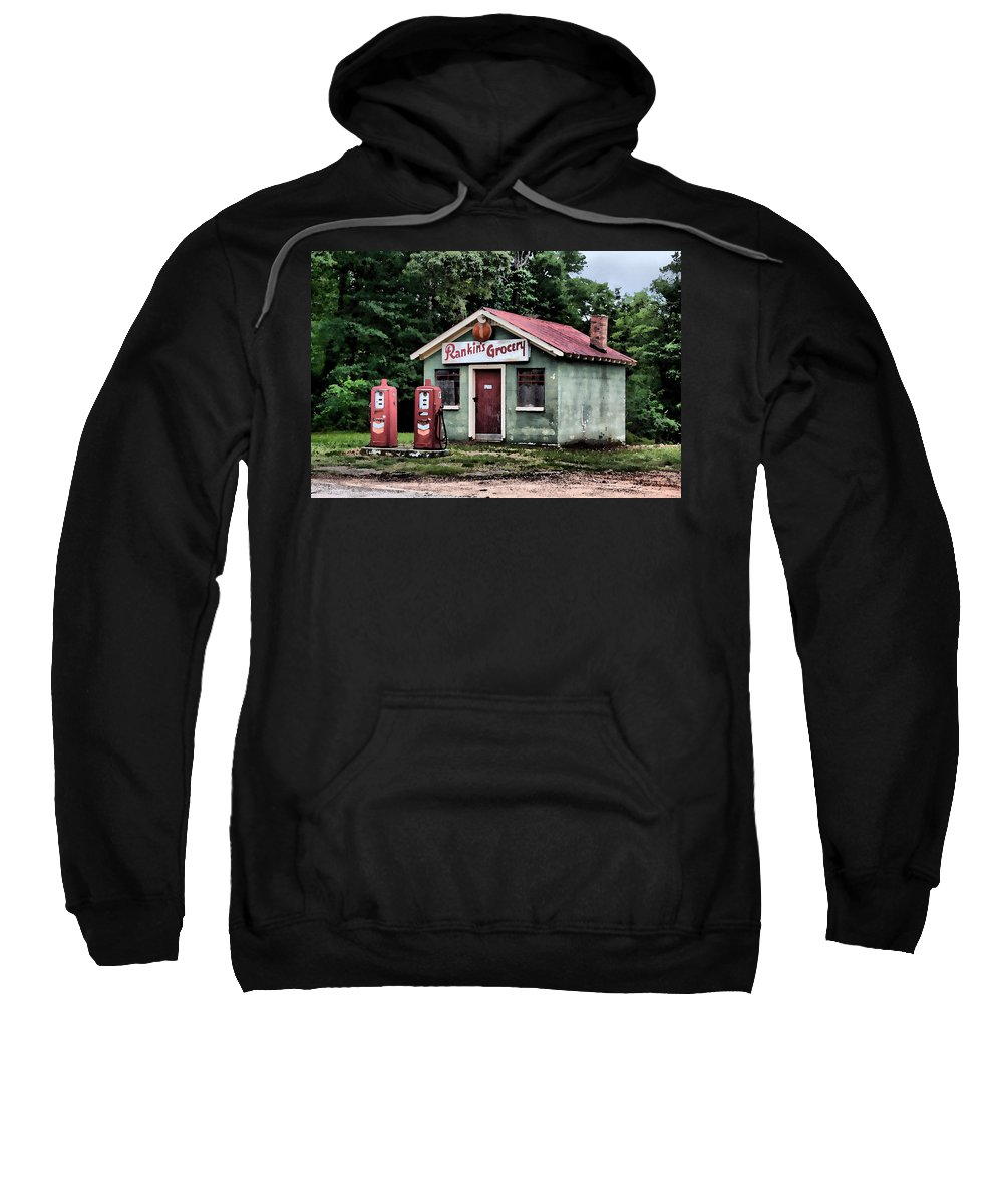 Watercolor Sweatshirt featuring the painting Rankins Grocery In Watercolor by Lynne Jenkins
